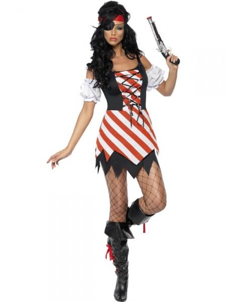 04ae9331c50d Naše půjčovna kostýmů Vám nabízí velký výběr pirátek a námořnic. Tento  pruhovaný kostým pirátky je jedním z nejoblíbenějších.